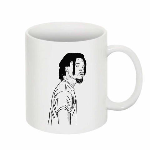 Denzel Curry 11 0Z Ceramic White Mug