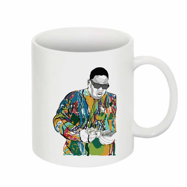 The Notorious B.I.G. Biggie smalls Coogie Sweater 11 0Z Ceramic White Mug // Babes & Gents // www.babesngents.com