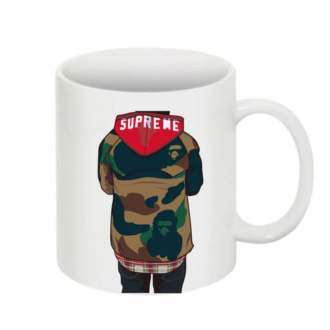 Supreme Bape 11 0Z Ceramic White Mug
