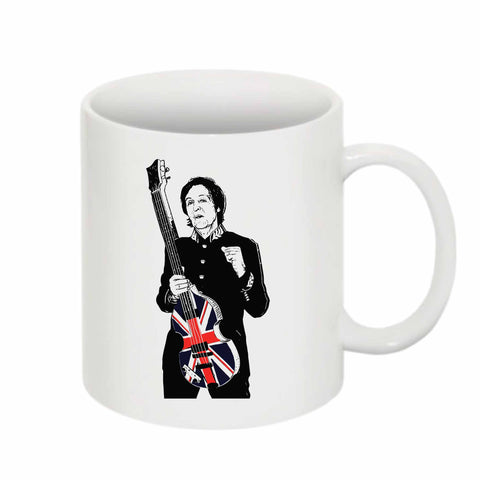 Paul McCartney 11 0Z Ceramic White Mug