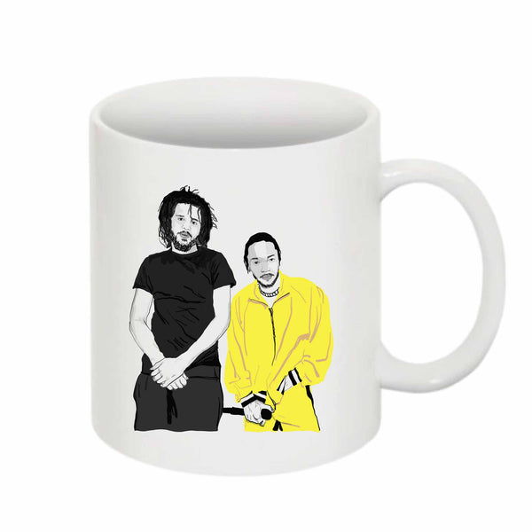 Jcole and Kendrick Lamar 11 0Z Ceramic White Mug // Babes & Gents // www.babesngents.com