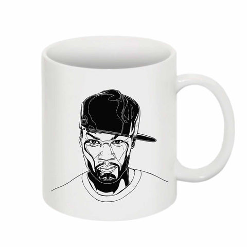 50 cent 11 0Z Ceramic White Mug