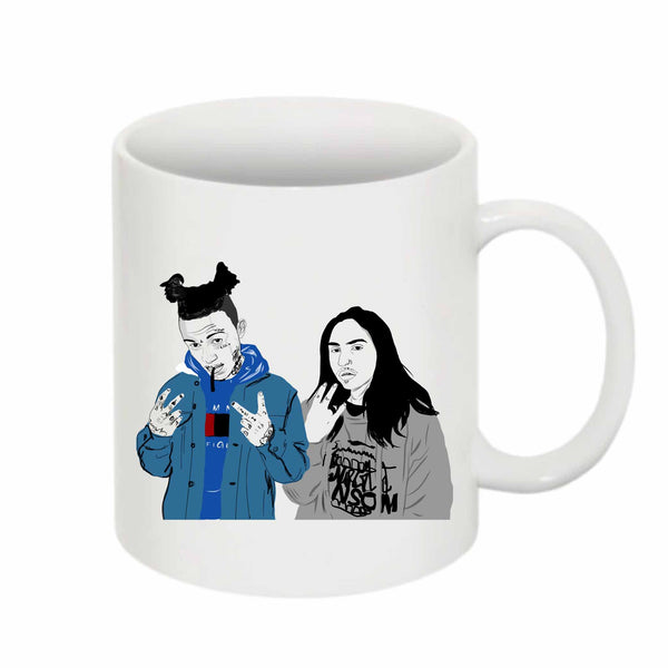 Lil Skies and Landon Cube 11 0Z Ceramic White Mug // Babes & Gents // www.babesngents.com