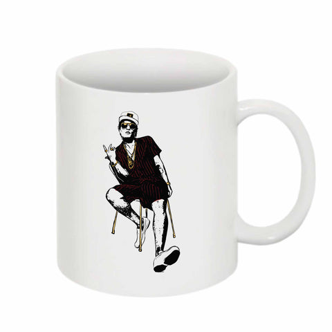 Bruno Mars 11 0Z Ceramic White Mug