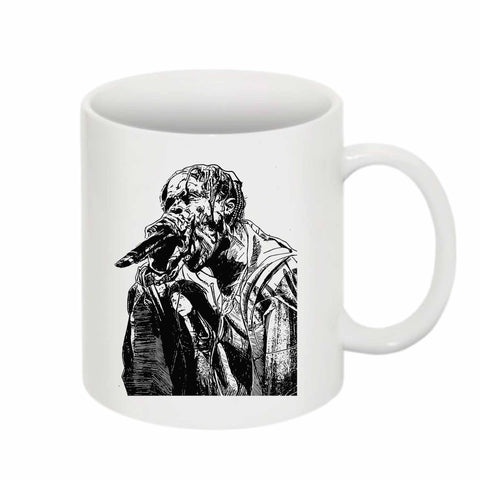 Travis Scott Raging 11 0Z Ceramic White Mug