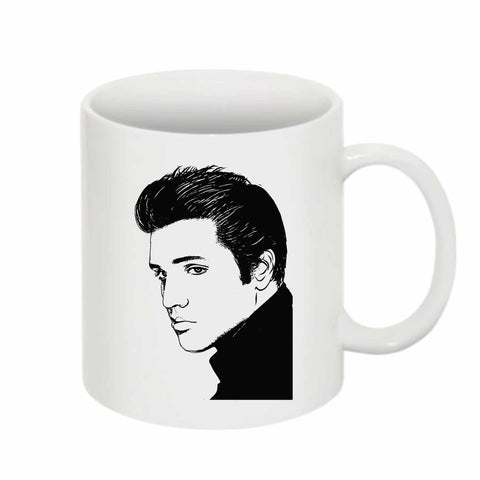 Elvis Presley 11 0Z Ceramic White Mug