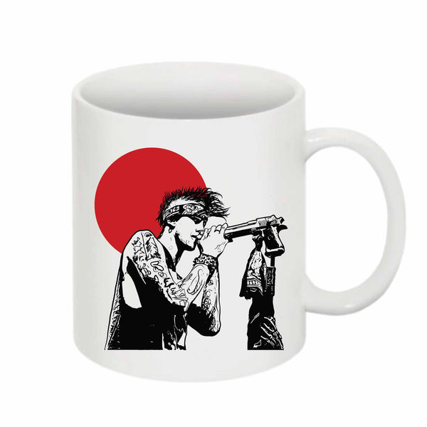 Machine Gun Kelly MGK 11 0Z Ceramic White Mug // Babes & Gents // www.babesngents.com