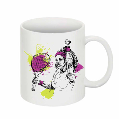 Serena Williams  11 0Z Ceramic White Mug