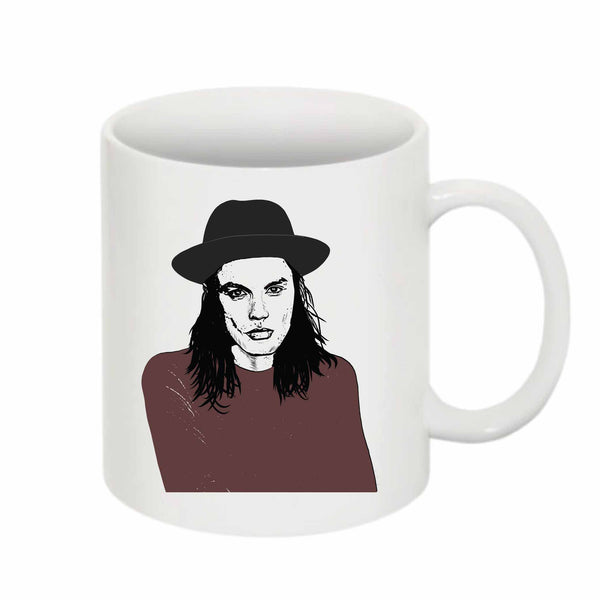 James Bay 11 0Z Ceramic White Mug // Babes & Gents // www.babesngents.com