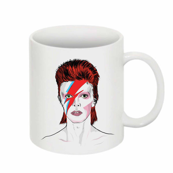 David Bowie 11 0Z Ceramic White Mug // Babes & Gents // www.babesngents.com