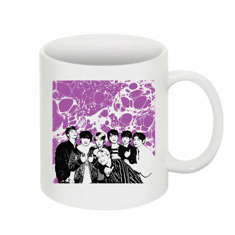 BTS 11 0Z Ceramic White Mug