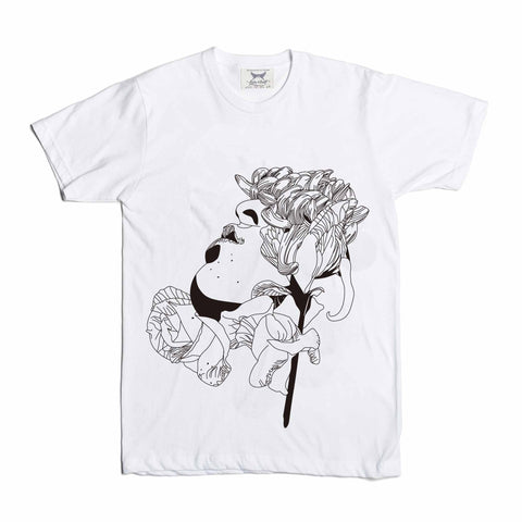 Flower Face White Tee // Valentine Rose