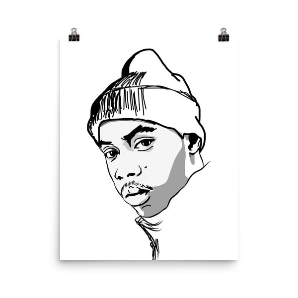 Nas Art Poster (6 sizes) // Babes & Gents // www.babesngents.com