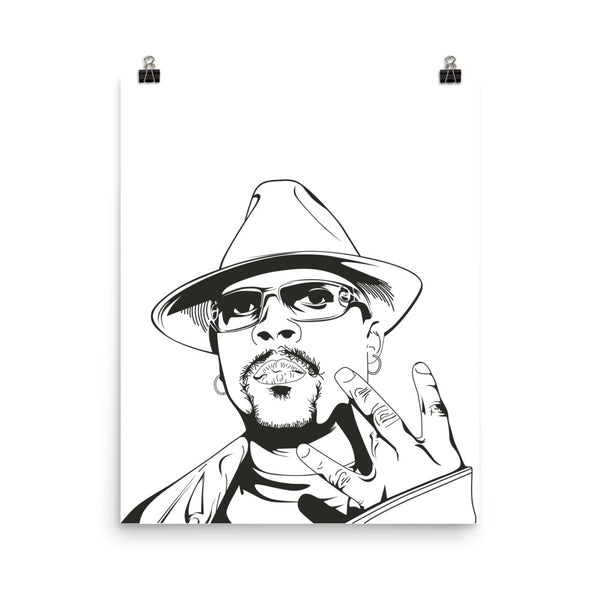 Nate Dogg Art Poster (6 sizes) // Hip Hop // Babes & Gents // www.babesngents.com