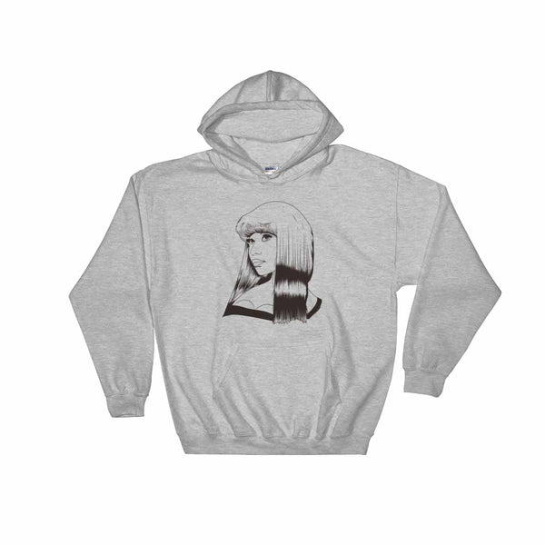 Nicki Minaj Grey Hoodie Sweater (Unisex) , Babes & Gents, Ottawa