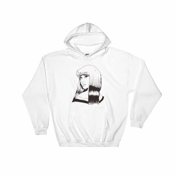Nicki Minaj White Hoodie Sweater (Unisex) , Babes & Gents, Ottawa