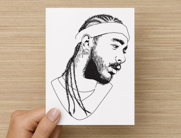 Post Malone White Iverson Stoney Valentines / Anniversary / Birthday / Christmas Card