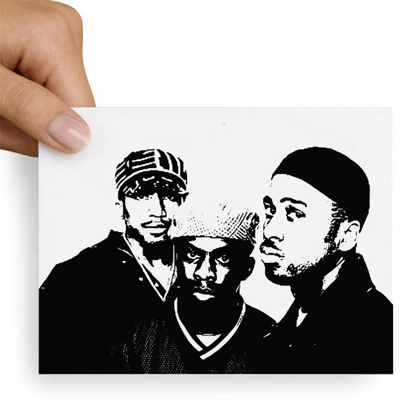 A Tribe Called Quest Postcard // Babes & Gents //  www.babesngents.com