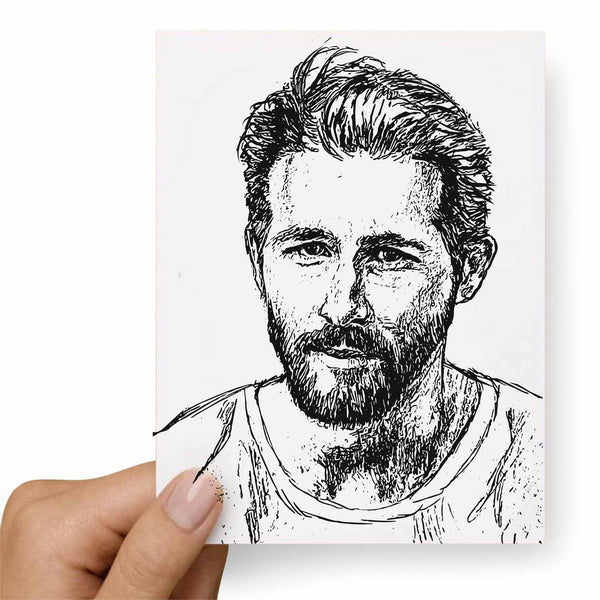 Ryan Reynolds Postcard // Babes & Gents //  www.babesngents.com