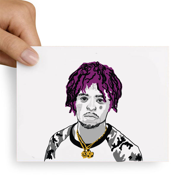 Lil Uzi Vert Color Valentines / Anniversary / Birthday / Christmas Card // Babes & Gents //  www.babesngents.com