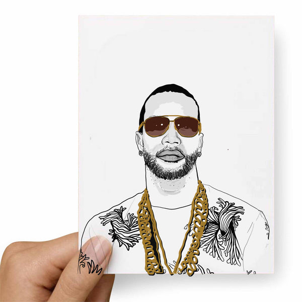 Juicy J Valentines / Anniversary / Birthday / Christmas Card // Babes & Gents // www.babesngents.com