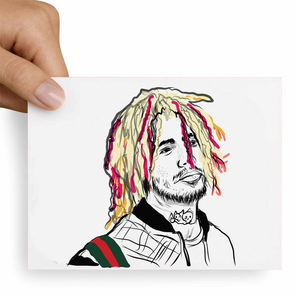 Lil Pump Valentines / Anniversary / Birthday / Christmas Card // Babes & Gents // www.babesngents.com