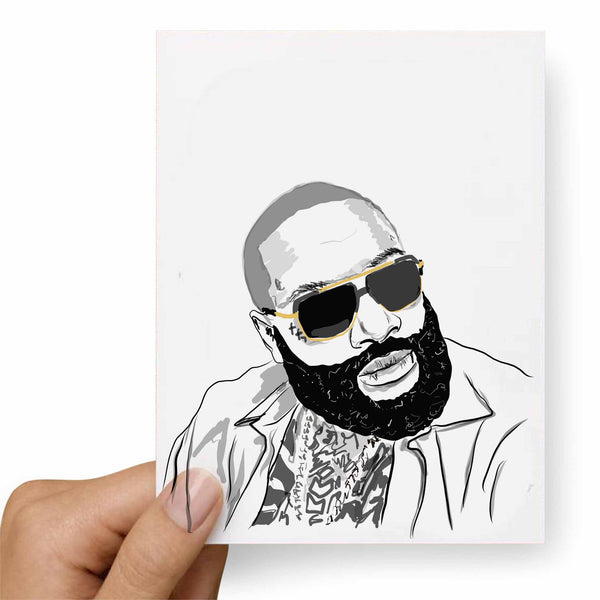 Rick Ross Valentines / Anniversary / Birthday / Christmas Card // Babes & Gents // www.babesngents.com