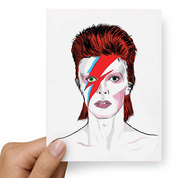 David Bowie Valentines / Anniversary / Birthday / Christmas Card // Babes & Gents // www.babesngents.com