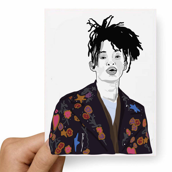 Jaden Smith Valentines / Anniversary / Birthday / Christmas Card // Babes & Gents // www.babesngents.com