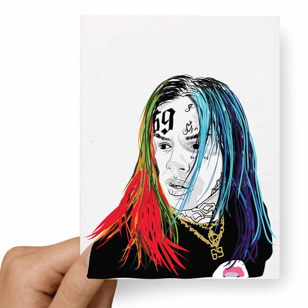 Tekashi 69 6ix9ine Valentines / Anniversary / Birthday / Christmas Card // Babes & Gents // www.babesngents.com