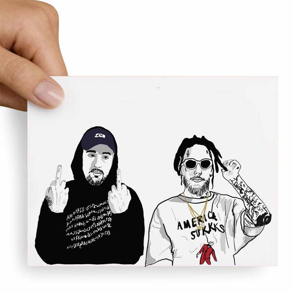 $uicideboy$ Suicide Boys Valentines / Anniversary / Birthday / Christmas Card // Babes & Gents // www.babesngents.com