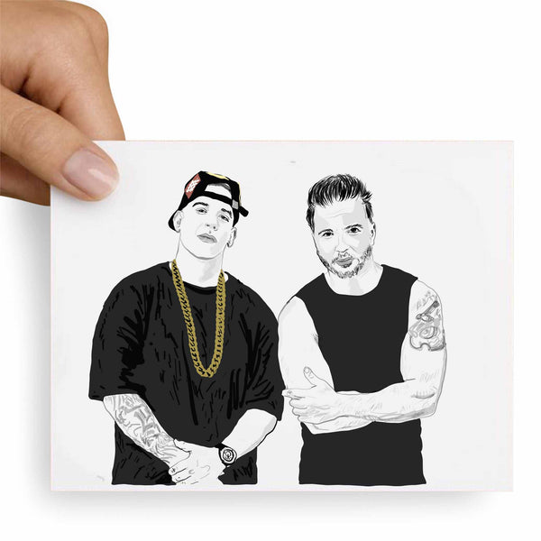 Luis Fonsi and Daddy Yankee Despacito Valentines / Anniversary / Birthday / Christmas Card // Babes & Gents // www.babesngents.com