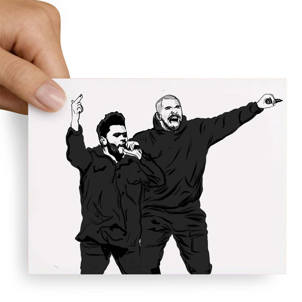 The Weeknd and Drake Valentines / Anniversary / Birthday / Christmas Card // Babes & Gents // www.babesngents.com