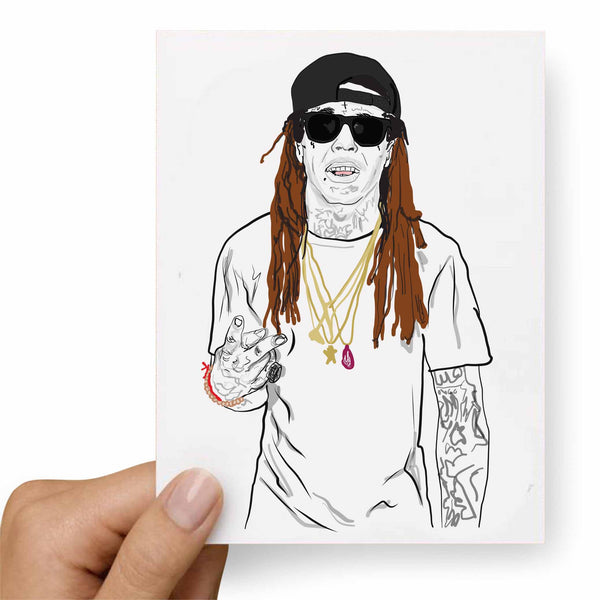 Lil Wayne Tunchi Valentines / Anniversary / Birthday / Christmas Card // Babes & Gents // www.babesngents.com