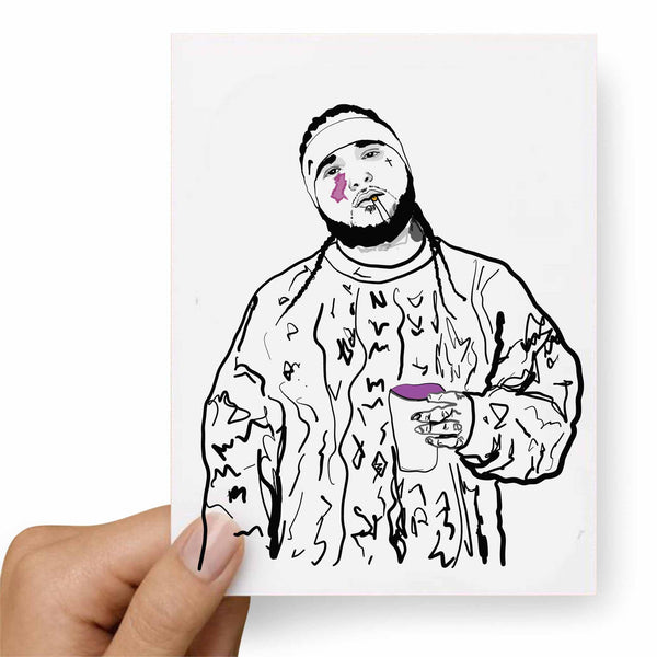 ASAP Yams A$AP Mob Valentines / Anniversary / Birthday / Christmas Card // Babes & Gents //  www.babesngents.com