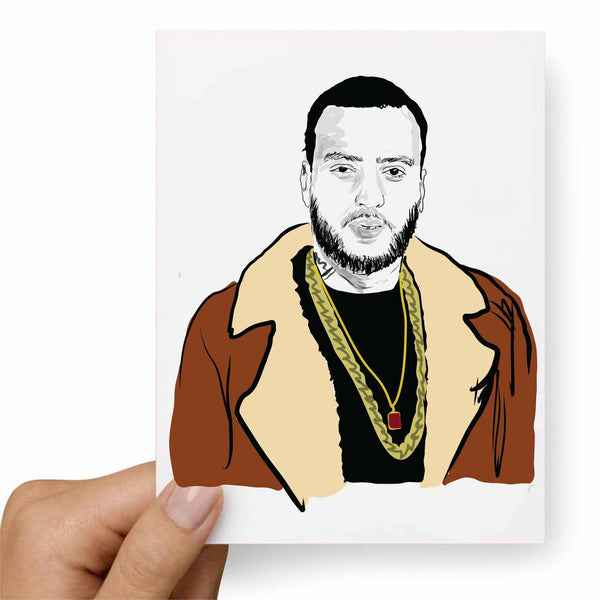 French Montana Valentines / Anniversary / Birthday / Christmas Card // Babes & Gents // www.babesngents.com