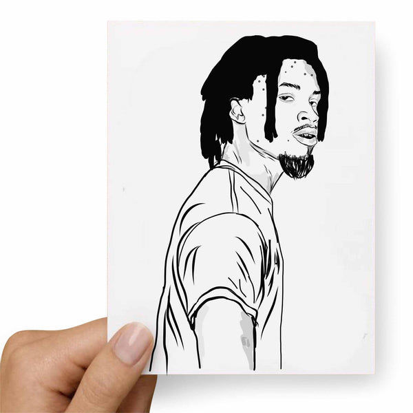 Denzel Curry Valentines / Anniversary / Birthday / Christmas Card // Babes & Gents // www.babesngents.com