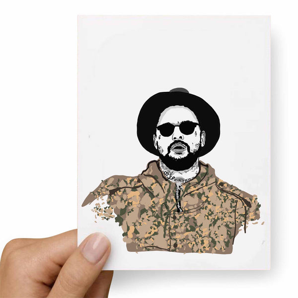 ScHoolboy Q Valentines / Anniversary / Birthday / Christmas Card // Babes & Gents // www.babesngents.com