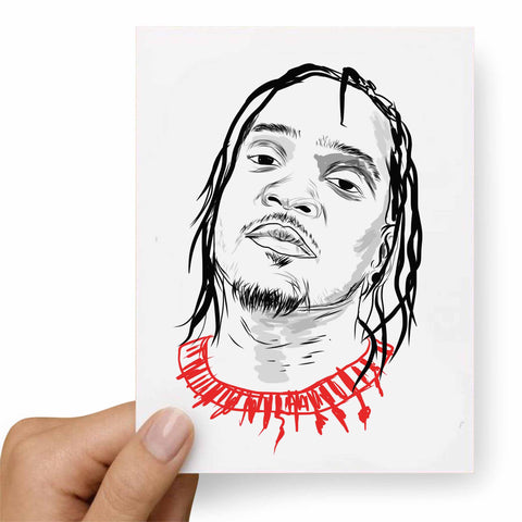 Pusha T Valentines / Anniversary / Birthday / Christmas Card