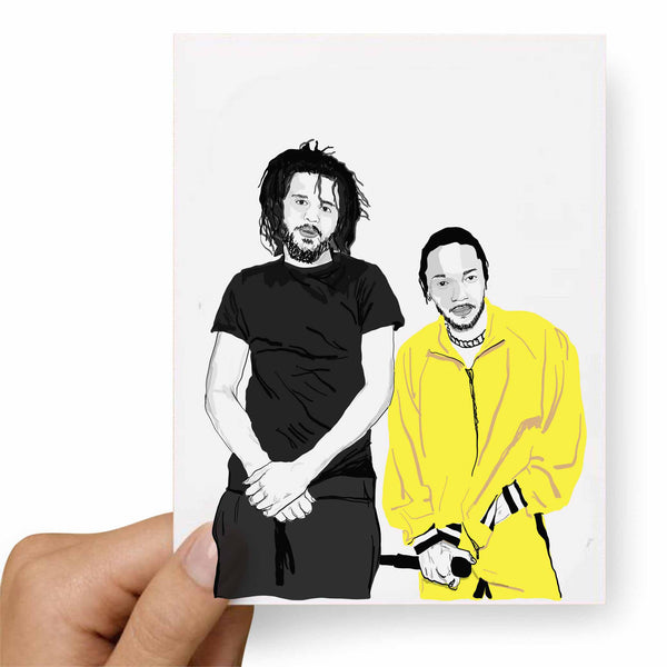 Jcole and Kendrick Lamar Valentines / Anniversary / Birthday / Christmas Card // Babes & Gents // www.babesngents.com