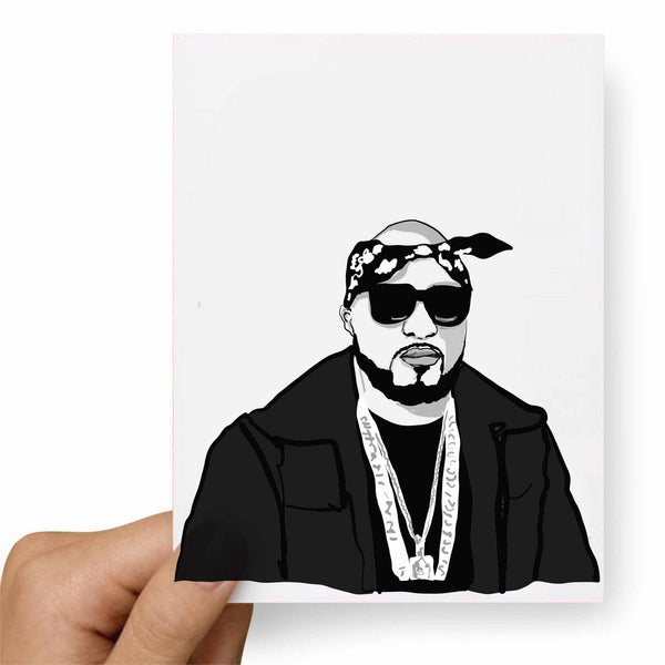 Young Jeezy Valentines / Anniversary / Birthday / Christmas Card // Babes & Gents // www.babesngents.com