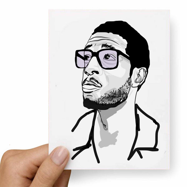 Kid Cudi 2 Valentines / Anniversary / Birthday / Christmas Card // Babes & Gents // www.babesngents.com