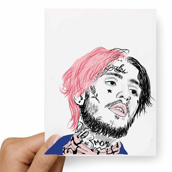 Lil Peep Valentines / Anniversary / Birthday / Christmas Card // Babes & Gents // www.babesngents.com