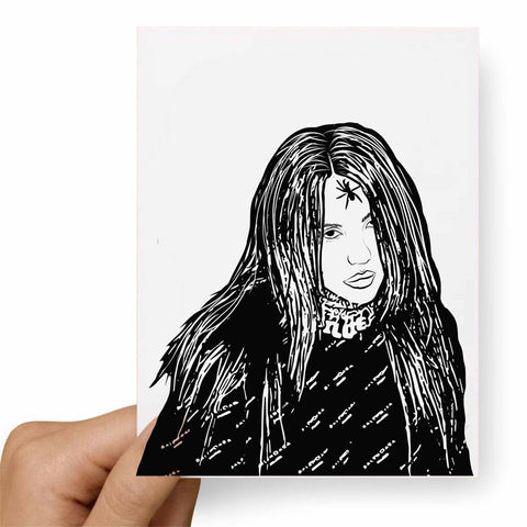 Billie Eilish Postcard