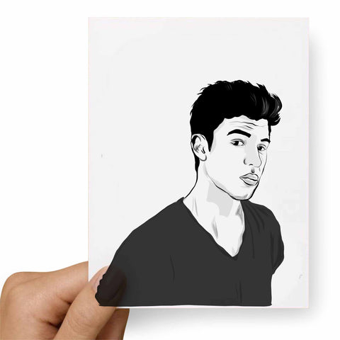 Shawn Mendes Postcard