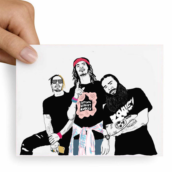Flatbush Zombies Valentines / Anniversary / Birthday / Christmas Card // Babes & Gents // www.babesngents.com