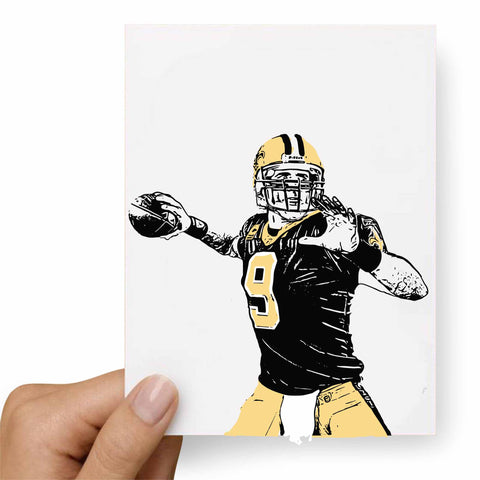 Drew Brees Postcard