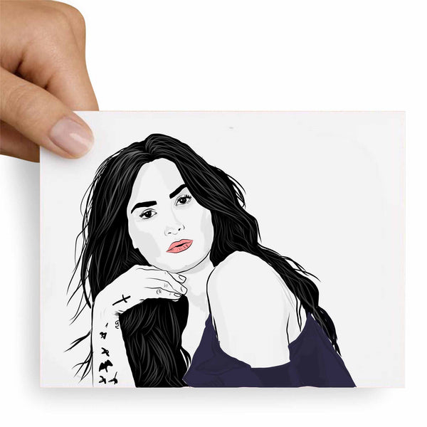 Demi Lovato Valentines / Anniversary / Birthday / Christmas Card // Babes & Gents //  www.babesngents.com