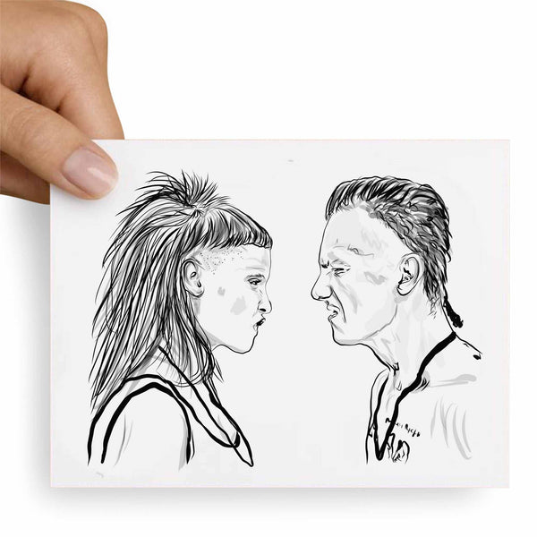 Die Antwoord Valentines / Anniversary / Birthday / Christmas Card // Babes & Gents // www.babesngents.com