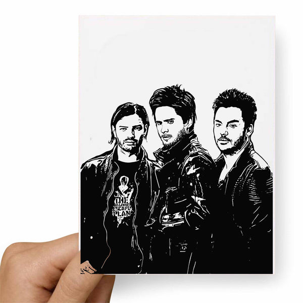 30 seconds to mars Valentines / Anniversary / Birthday / Christmas Card // Babes & Gents //  www.babesngents.com